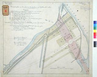 RT-G-FN57-1 Situatieplan voor het maken van een haven; de Noorderhaven, die later Koningshaven is genoemd, met ...