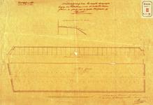 RT-G-FN58-1 Schets van een bergplaats voor tijdelijke berging van petroleum, ter vervanging van de houten hulploods op ...
