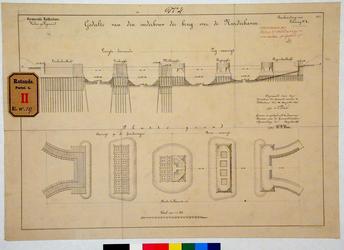 RT-G-FN59-4 Een gedeelte van de onderbouw van een brug over de Noorderhaven, de aan te leggen haven die later ...