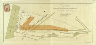 RT-G-FN72 Situatietekening van het terrein van de Rotterdamse Handelsvereniging op het eiland Feijenoord met daarop ...