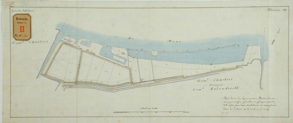 RT-G-FN73-1 Gedeelte van het kadastrale plan van de gemeente Charlois waarop het door de gemeente Rotterdam ...