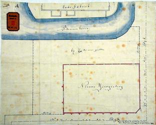 RT-G-FN74-2 Plattegrond van de IJzergieterij en de afrastering van het daarbij gelegen terrein aan de Binnenhaven op ...