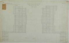 RT-G-FN76-2 Plattegrond van de fundering van de landhoofden van een te maken brug over de mond van de Binnenhaven en ...