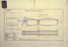 RT-G-FN77-13 Situatieplan, doorsnede en plattegrond van de bovenbouw van de brug over de Koningshaven. Koninginnebrug.