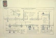 RT-G-FN77-14 Doorsneden van gedeelten van de bovenbouw van de brug over de Koningshaven. Koninginnebrug.