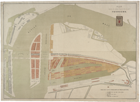 RT-G-FN83-3 Plan van uit te voeren werken op het eiland Feijenoord. De terreinen van de Rotterdamse Handelsvereniging ...