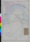 RT-G-FN9 Kaart van de rivier de Maas met het ontwerp tot uitbreiding van de stad door het graven van een kanaal op het ...