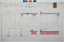 RT-G-FN95-1 Aanzicht en doorsneden van de bovenbouw van het westelijk gedeelte van de kademuur langs de Koningshaven ...