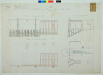 RT-G-FN95-2 Doorsneden, plattegrond en details van de bovenbouw van de kademuur langs de Spoorweghaven.