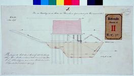 RT-G-FN98-1 Plan van bewerking van de bodem van de Binnenhaven bij de uitvoering van werken aan de kademuur.