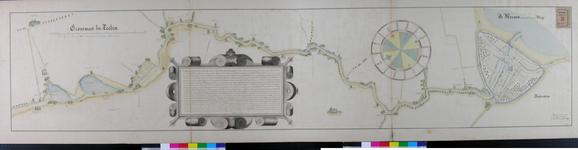 RT-I-2-1 Kaart van de rivier de Rotte vanaf de oorsprong in Moerkapelle tot aan de Maas. Met plattegrond van Rotterdam.