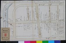 RT-I-35 Plattegrond van de erven gelegen aan de Zijl met de namen van de bewoners.