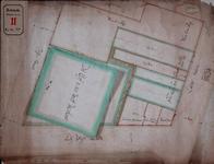 RT-I-44 Plattegrond van percelen gelegen aan de zuidzijde van de Wijnhaven tussen de Jufferstraat en de Leuvehaven. Een ...