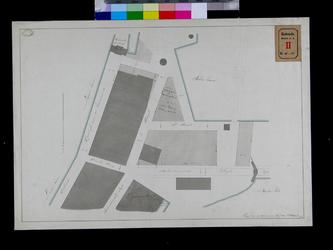 RT-I-50 Kopie van de kaart van de door de stedelijke regering uitgegeven erven aan het einde van de Leuvehaven en aan ...