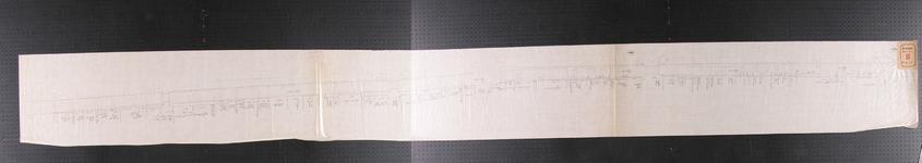 RT-I-51 Kopie van een kaart waarop de ligging is aangegeven van de panden langs de Binnenvest, van de Sleutelsteeg tot ...