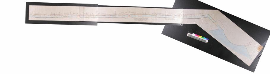RT-I-52 Kopie van een kaart waarop de stand van de panden aan de Binnenvest is aangegeven van de Sleutelsteeg tot aan ...