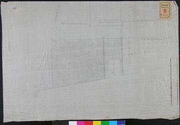 RT-I-55 Kaart van huizen en werf aan de Rotte. Op de achterkant staat vermeld: Kaart van de huizen en werf op de Rotte ...