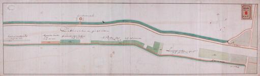 RT-I-61 Kaart van de zaagmolens aan de Schie, waar enige drijflanden en water in huur en tot wederopzegging zijn uitgegeven.
