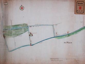 RT-I-75-1 Plan van een hoge boezem in de polder Rubroek, tekening nr. 2 in omslag.