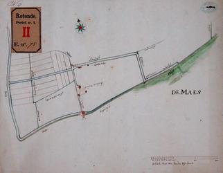 RT-I-75-3 Plan van een hoge boezem in de polder Rubroek, tekening nr. 4 in omslag.