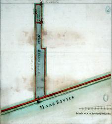 RT-I-75-4 Kaart van de te maken Schielandse Hoge Boezem.