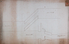 RT-I-78-4 Plan van de omtrek en de stand van de nieuwe Delftse Poort.