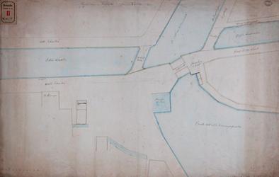 RT-I-78-7 Plan van de omtrek en de stand van de nieuwe Delftse Poort.
