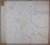 RT-I-80-1 Plan van de situatie van de nieuwe Delftse Poort en de Hofpoort, voor een project tot hernieuwing van de ...