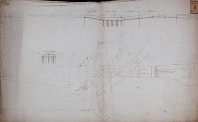 RT-I-88-2 Profielen en grondtekening van de duiker die loopt van de Hoge Boezem naar de kom van de Slaakvaart en de ...