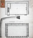 RT-I-92-5 Ontwerp voor een diaconieschool in de Nieuwsteeg bij het Bombazijnenkerkhof: 2 plattegronden fundering.