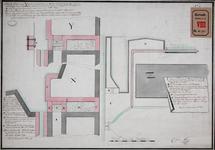 RT-I-93-6 Twee manieren om de Wester Oude Hoofdpoort tegen hoog water te beschermen; 1. m.b.v. een muur en 2. m.b.v. ...