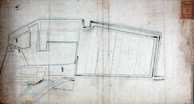 RT-I-98 Schets van de Zalmhaven en de Muizenpolder. Met drie molens aan de Zalmhaven ingetekend; De Pelicaan, De ...