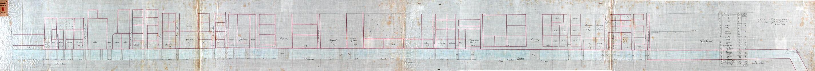 RT-II-102 Opmeting van de Binnenvest en de breedte van de aan de Baan gelegen percelen tussen de Schildersteeg en het ...