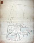 RT-II-107 Kadastrale kaart van het westelijk gedeelte van Rotterdam, met het ontwerp van een entrepot en dok aan het ...