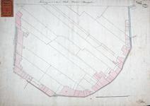 RT-II-115 Tekening van de te dempen sloot langs de Raamgronden, eerder het Hof van Weena genoemd, van de Raampoort tot ...