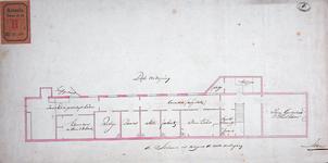 RT-II-122-3 Ontwerp tot verbouwing van het Pest- en Dolhuis aan de Hoogstraat. Tekening E, plattegrond van de derde ...