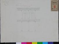 RT-II-136-2 Ontwerptekening van de tweede galerij voor de overdekking van het plein, de Beurs en tot afsluiting van de ...