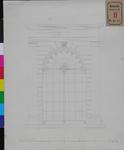 RT-II-136-4 Ontwerptekening van de glazen afsluiting van de bestaande galerij tot overdekking van het plein, de Beurs ...