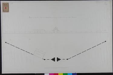 RT-II-151-1 Voormuur en poort en ontwerp van het te bouwen vriendenhuis van de Begraafplaats Crooswijk langs de Rotte ...
