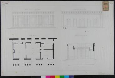 RT-II-151-2 Ontwerptekening voor het bouwen van een vriendenhuis bij de Begraafplaats Crooswijk langs de Rotte ...