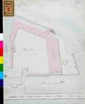 RT-II-152 Geregistreerde kaart van de terreinen rondom de Plaats Harmonie achter het Paleis van Justitie.