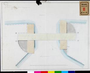 RT-II-164 Schetstekening voor het maken van een dubbele draaibrug over de Scheepmakershaven.