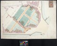RT-II-168 Kadastrale kaart met ontworpen straten en bebouwing gelegen tussen de Schiekade, Slagt-veld, Stroveer langs ...