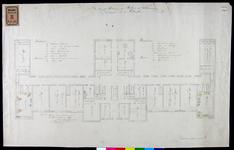 RT-II-195 Plattegrond van de kelderverdieping van het Coolsingelziekenhuis aan de Coolsingel (plantekening).