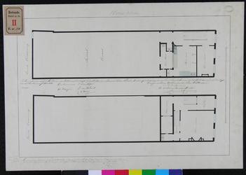 RT-II-198 Bestekstekening voor de verbouwing van een huis tot een school en onderwijzerswoning aan de zuidzijde van de ...