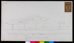 RT-II-206-4 Tekening voorzien van goede ligplaatsen voor de stoomboten aan de Boompjes nabij de Grote Draaisteeg (variant 4).