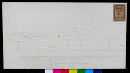 RT-II-206-6 Tekening voorzien van goede ligplaatsen voor de stoomboten aan de Boompjes nabij de Grote Draaisteeg (variant 6).