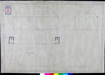 RT-III-214-2 Plattegrond en dwarsdoorsneden voor het bouwen van een school aan de Binnenwegse Poort.