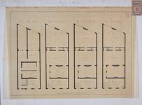 RT-III-231-2 Plantekening voor het bouwen van het ziekenhuis aan de Boshoek. Plattegrond van de begane grond, eerste, ...