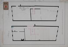 RT-III-233-2 Ontwerptekening voor de verbouwing van het stadsgebouw aan de Gallerij tot laboratorium. Plattegrond van ...